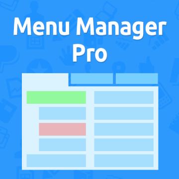 Menu Manager Pro